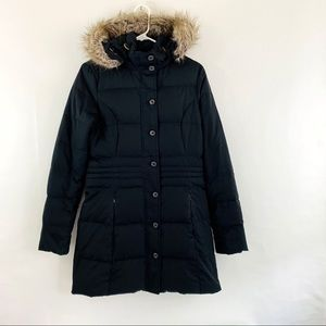Tommy Hilfiger Black Puffer Down Jacket Fur Hood